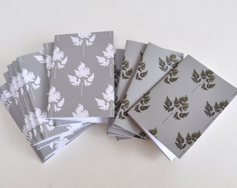 Fern notebooks, Small notebooks, Small books for writing notes, Sketch books.