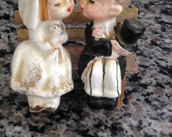 Free Shipping and Reduced Wedding Couple Salt and Pepper