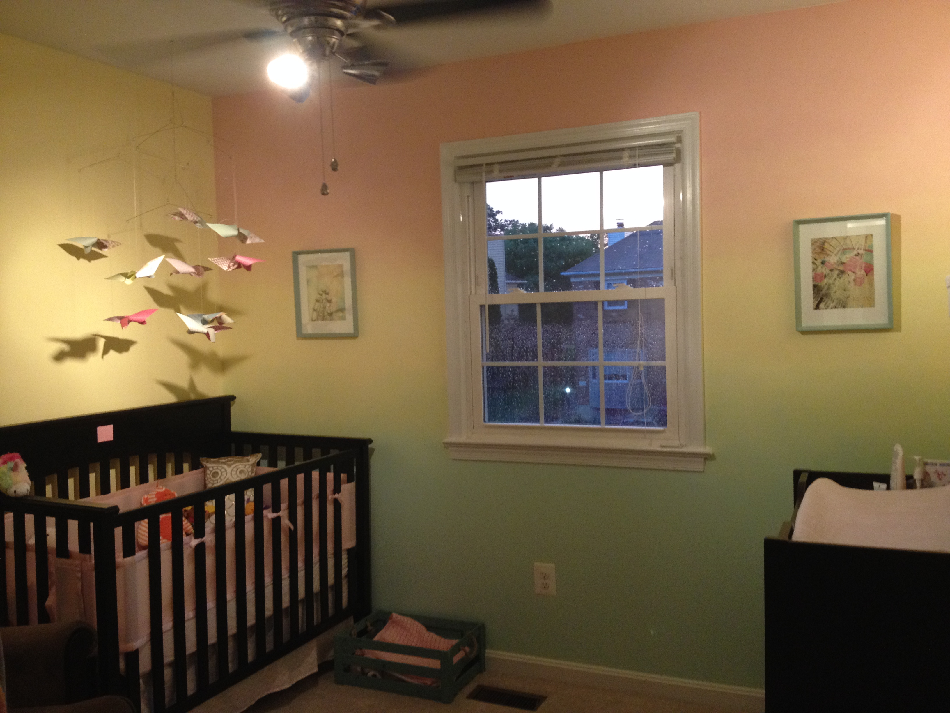 Whimsical nursery pick 3 and paper bowls on pinterest for Different ways to paint walls