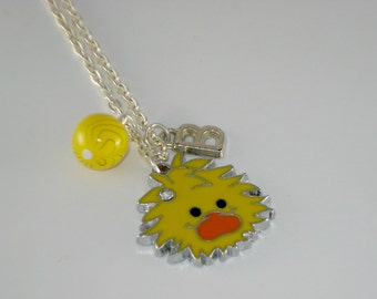 Duck personalized childrens necklace,duck charm necklace, childrens jewelry, girls necklace, charm jewelry for girls
