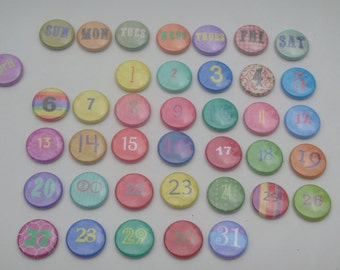 Fun, Bright, Colorful perpetual calendar.  Calendar #1:  50 Pieces included