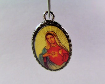 Christian Charms.(1 1/8 x 3/4) Religious Charm. Saints. Jesus Charm. Saint Guadalupe Charm. Catholic Charm. Earring Supply. Craft Supply.