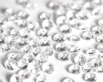 Scatter Table Crystals | 1 Carat Clear Scatter Diamonds | Bling | 1,000 Pieces | Wedding Decor | Party Table Decoration