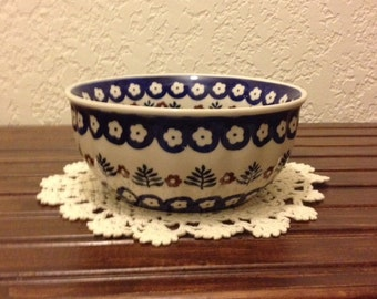 Polish Pottery Fluted Bowl