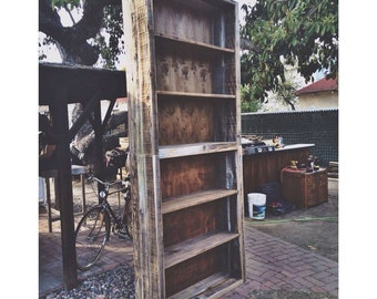 Reclaimed wood Bookshelf 9ft x 3.5ft