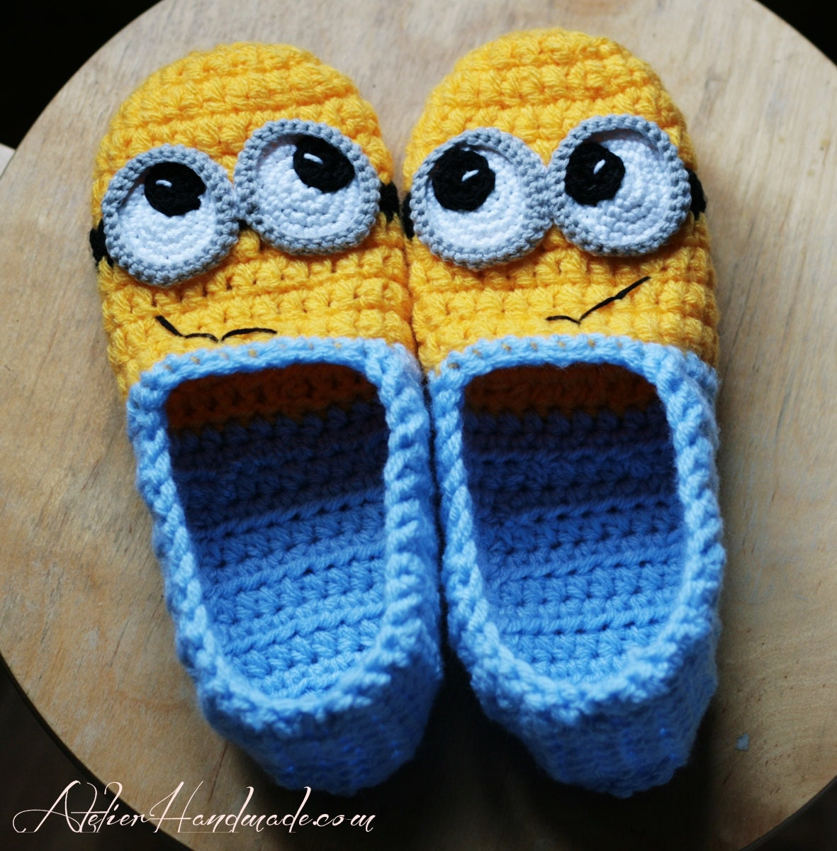 Crochet Pattern Slippers Adult Sizes Pdf File With Instant