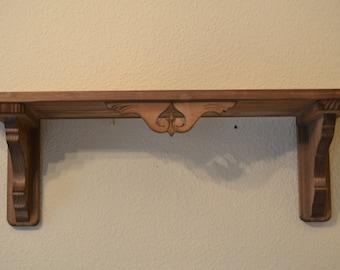 Shelf / rack of rustic wood