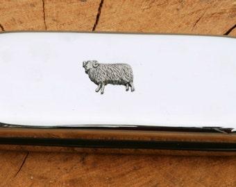 Sheep Metal Pen Case & Ball Point Set Gift FREE ENGRAVING