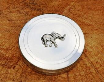Elephant Trinket Box English Pewter Ladies Gift