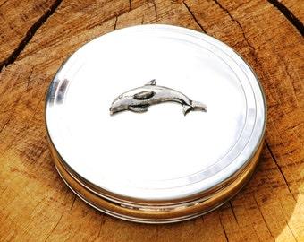 Dolphin Trinket Jewelry Box English Ladies Fish Gift