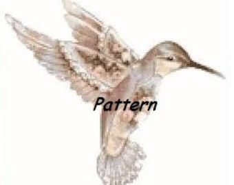 Kolibri. Cross Stitch Pattern. PDF Files.