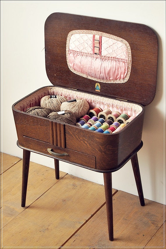 Retro Style Container Bedside Table: SOLD SOLD SOLD Vintage Retro Antique Sewing Box Sewing Table
