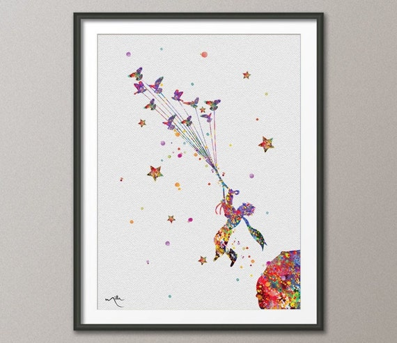 The little prince 2 le petit prince watercolor by cocomilla Decoration le petit prince