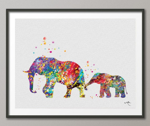 Elephant family painting - photo#19