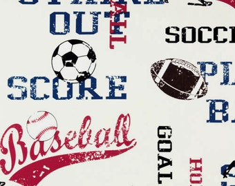 "Premier Prints fabric-Sports American Blue/White 54"" wide 100 % cotton Fabric by the yard cotton decorator fabric FAST SHIPPING"