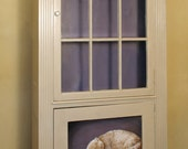 Painted Furniture. Cat and Mouse Bookcase, hand painted bookcase. Faux finish with decorative painting.