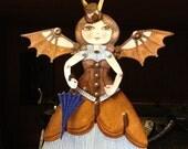 Steampunk Angel Original Canvas Ornament