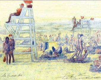 Life Guards reproduction of a watercolor painting