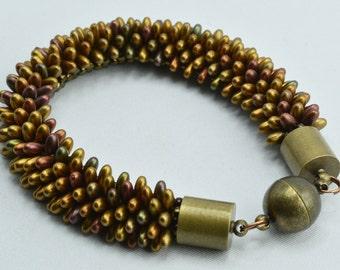 Metallic, Beadwork, Bracelet