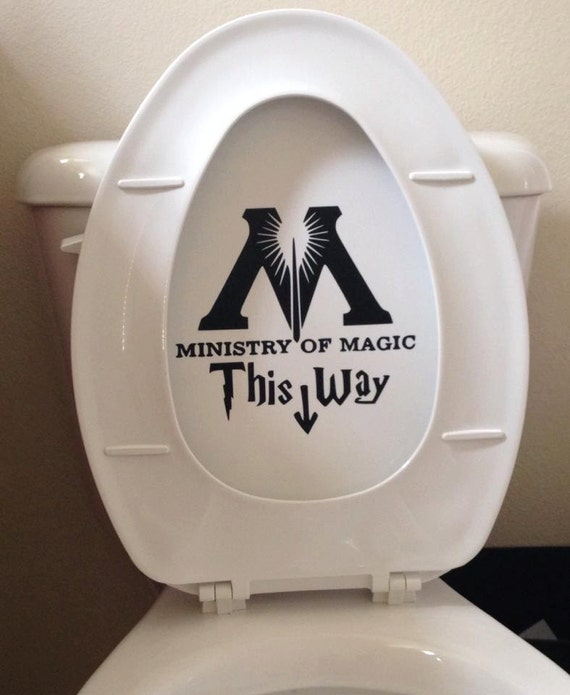 Ministry of Magic Toilet Decal
