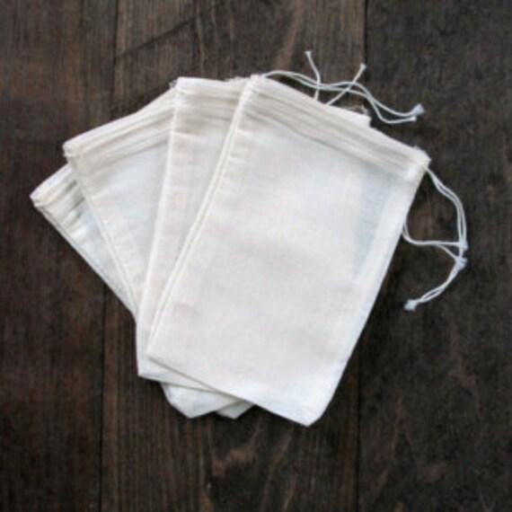Bathroom Set In A Bag: Set Of 10 Muslin Cloth Bag Bath Salt Bag Favor Bag Bath