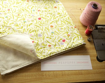 Organic Cotton Baby Blanket- Happy Flowers