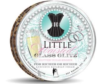 For Richer or Richer - Glittery Bavarian Cream Sugar Rimmer