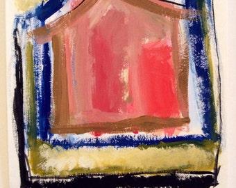 Gouache/watercolor painting