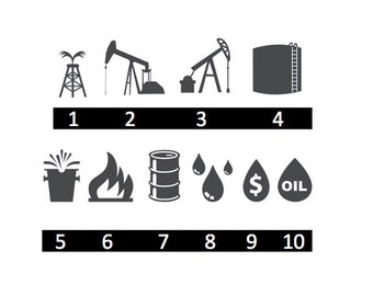 Oil Field, Oil Rigs, Gas Company - 10 Options - Home/Laptop/Computer/Phone/Car Bumper Sticker Decal