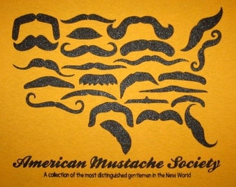 american mustache society t shirt funny stache humor USA America 'merica murica tee cool awesome hip graphic screenprint apparel vintage new