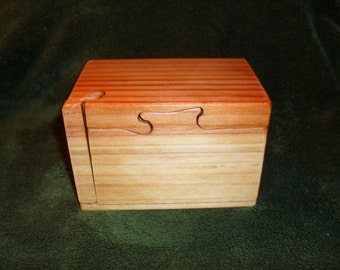 "Secret Compartment Puzzle Box ""Free Shipping"" Birth Days, Graduation -  pull the key, slide the top, lift the lid. Now discover the secret"