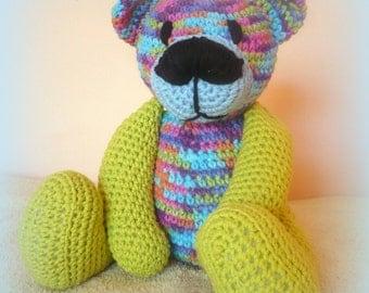 Crochet Teddy Bear Rainbow