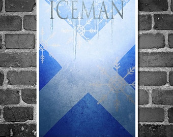 X-Men movie poster Iceman comic book print comic book art