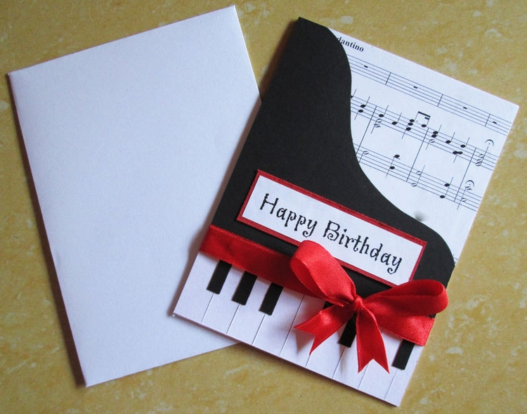 Birthday Greetings Cards For Husband With Music Piano Happy Card Themed By Dreamsbytheriver