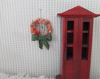 """Handmade miniature dollhouse wreath, 1.25x1.5"""""""