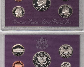U.S. Collectable coin set.  Proof condition.  in original box
