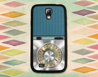 Blue Retro Radio For The Samsung Galaxy S4 or S5