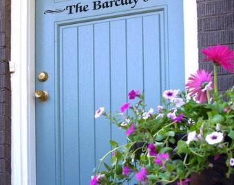 Custom Front Entry Door Sign