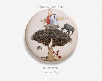 "Tree of Life - Pinback Button Badge - 2.25"" (5.5cm)"