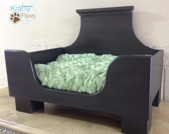 Handmade Dog Bed* Pet Bed* Dog bed* Dog Lover gifts* Pet lover Gifts* Fluffy Dog Bed* Cat Bed* Wooden Dog Bed* Kitten Bed