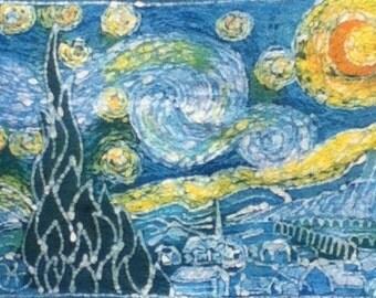 Starry Night Custom Batik Tshirt
