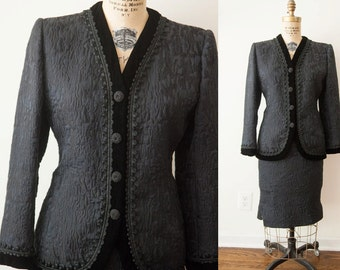 Vintage 80s Oscar de la Renta Ladie's Dress Suit // Size M - 6 - 8