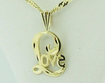 "14 K yellow gold ""LOVE"" pendant/charm"