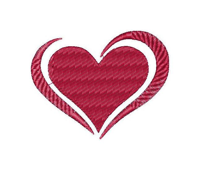 Hearts love valentine machine embroidery design