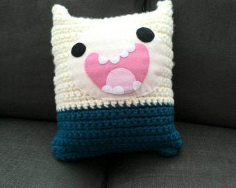 Finn the Human from Adventure Time Crochet Cushion/Pillow