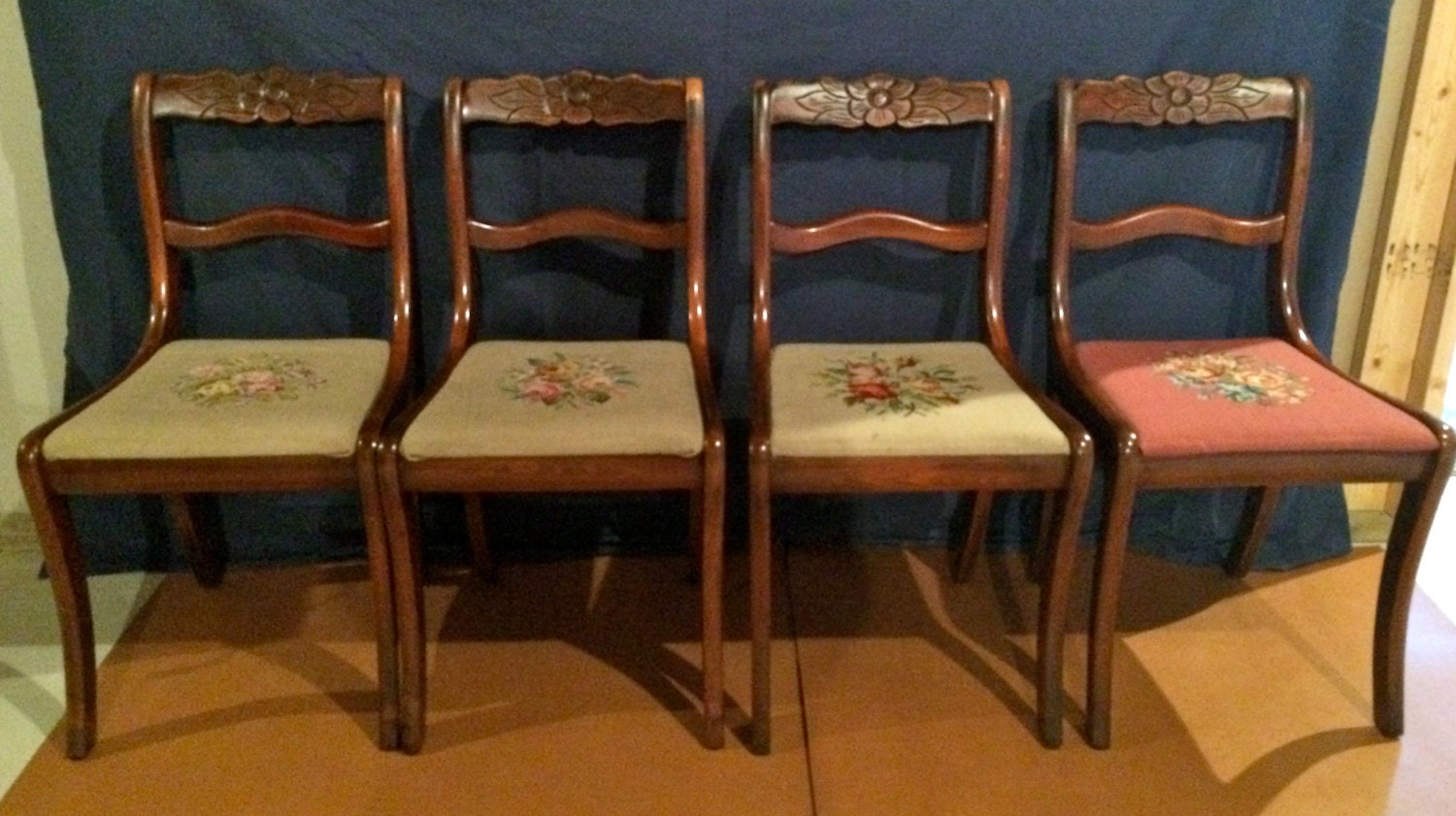 Duncan phyfe rose back chairs -  Zoom