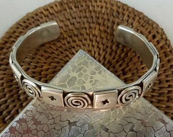 Vintage Modernist Sterling Silver Bracelet