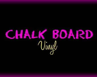 12x24 Sheet Chalkboard vinyl scrapbook labeling sticker silhouette cricut Chalk board label craft kids