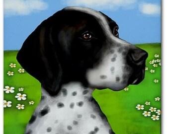 ENGLISH POINTER DOG Art Ceramic Tile Coaster