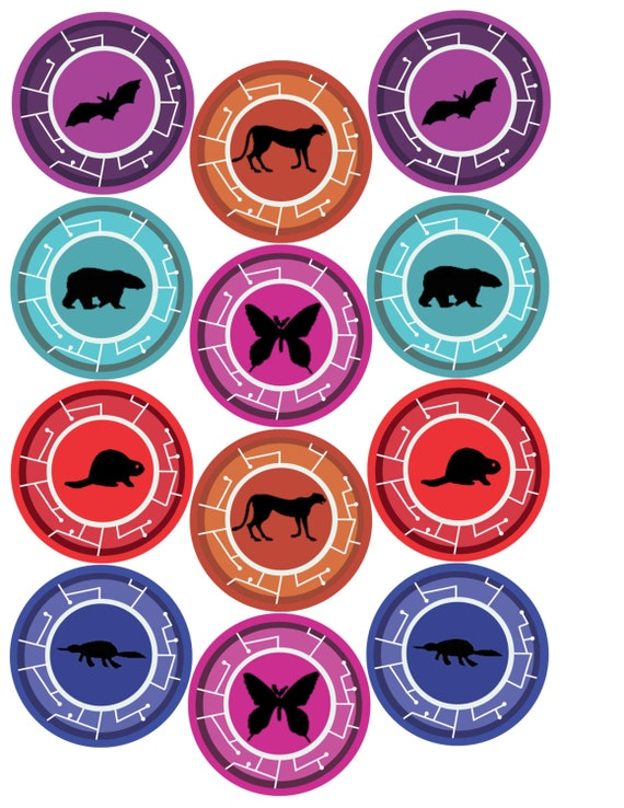 wild kratts creature power discs coloring pages - items similar to party sticker you pick animals on etsy